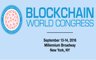 Blockchain World Congress, September 2016