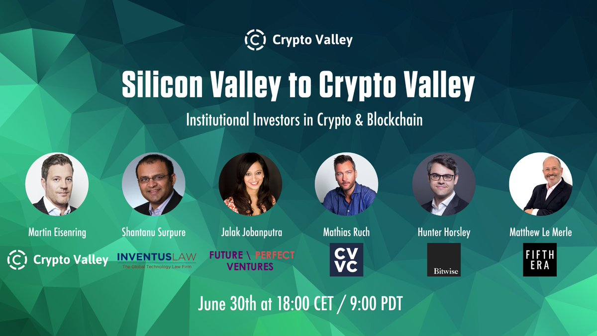 June 2020 Silicon Valley to Crypto Valley