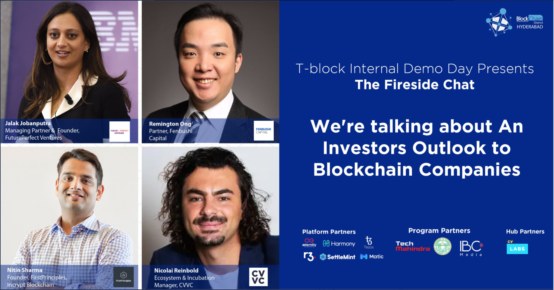July 2020 T-Block Internal Demo Day: Fireside Chat July 25
